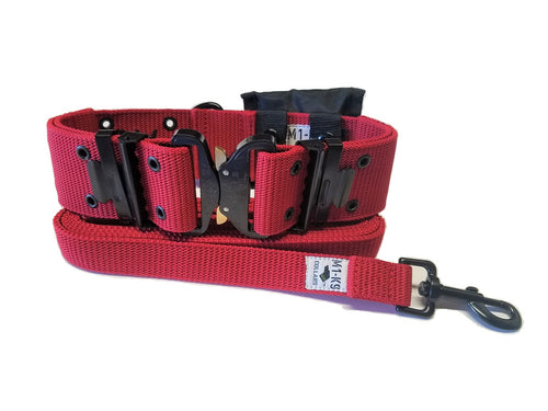 M1-K9 Collar, Gen. 3 Pro Series, Marine Corps Red, Adjustable 16