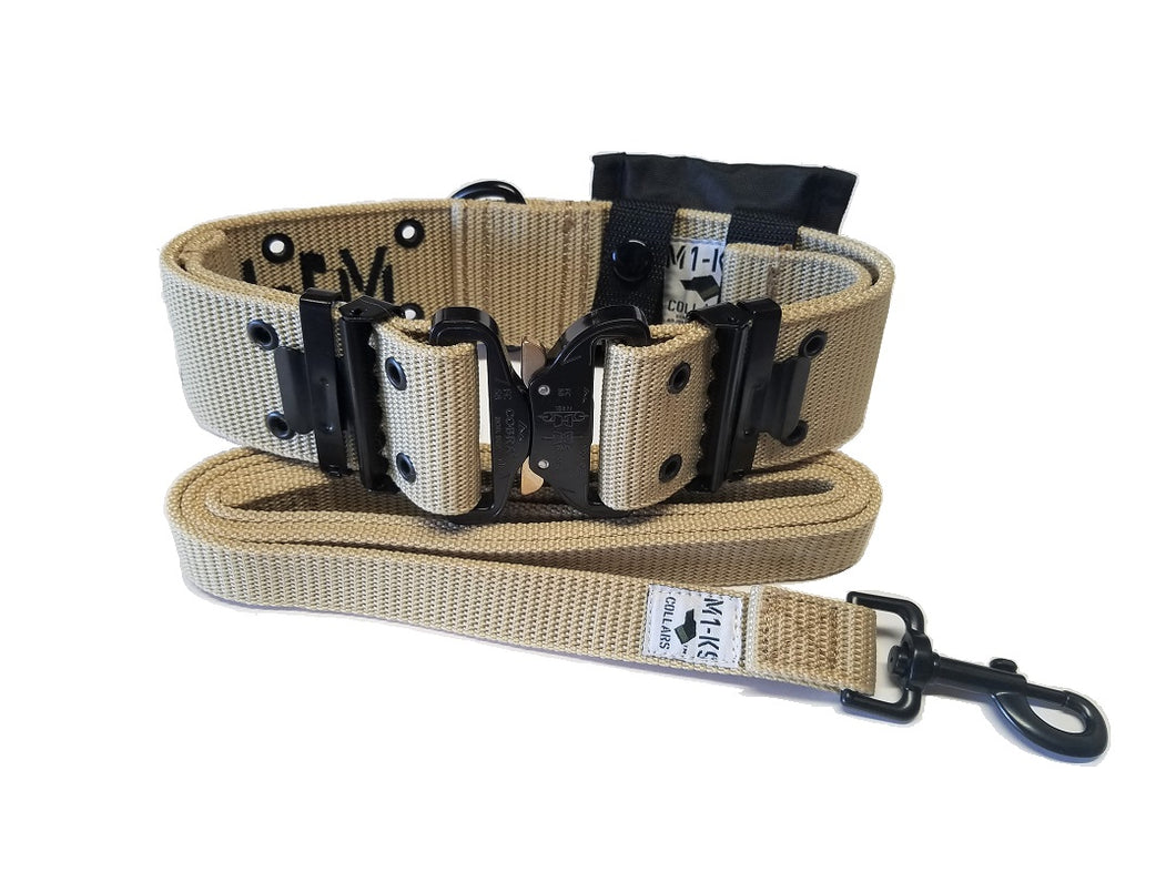 M1-K9 Collar, Gen. 3 Pro, Desert Tan, Adjustable 16