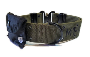 "M1-K9 Collar, Gen. 3 Pro Series, OD Green, Adjustable 16""-26"""