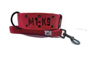 dog collar, tactical, heavy duty, large, military, wide, big, cobra buckle, red