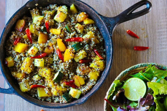 Spicy Pineapple Fried Quinoa | Vegan | Oil Free | Gluten Free