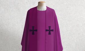 376 Crucifixion Stole <br> in Purple