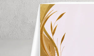 983 Foliage <br> Altar Cloth <br> in White & Gold