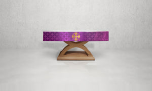 Celtic Cross Altar Frontal in Violet