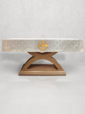 Celtic Cross Altar Frontal in White