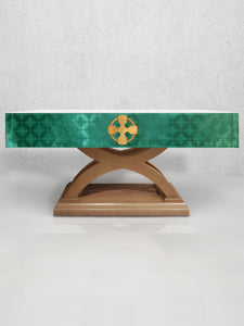 Celtic Cross Altar Frontal in Green