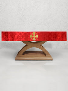 Celtic Cross Altar Frontal in Red