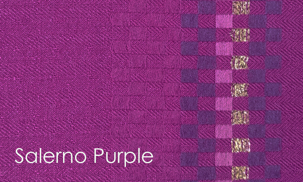 Salerno Woven Altar Scarves in Purple