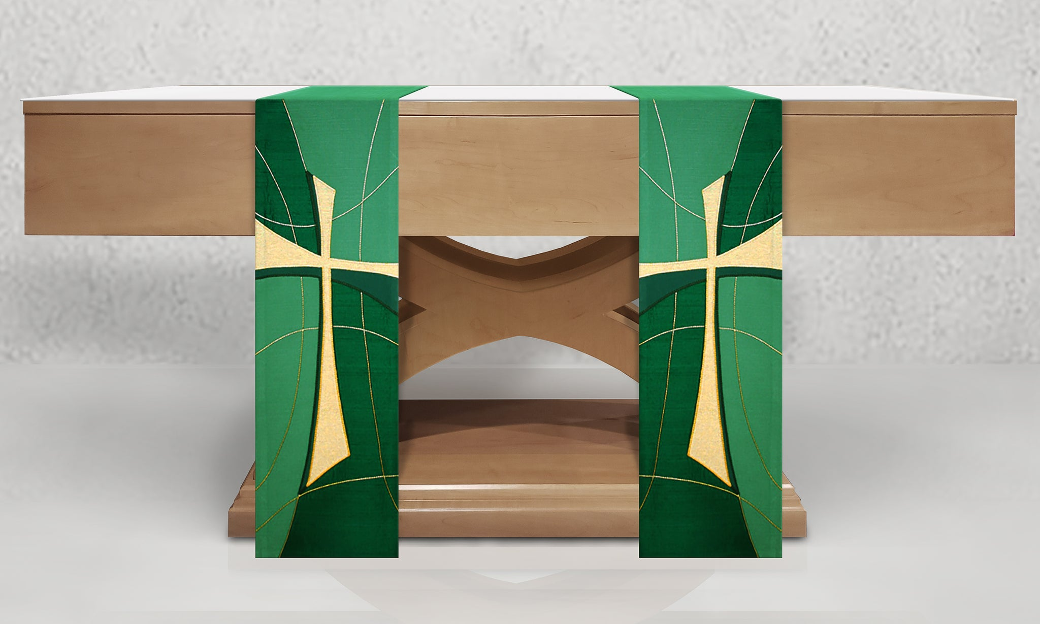 811 Cross Altar Scarves in Green