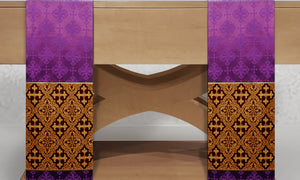 Classic Francis <br> Altar Scarves <br> in Lucia Purple