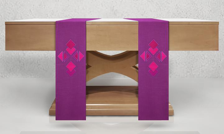 St Benedict Chasuble in Purple
