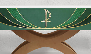 Chi Rho <br> Altar Frontal <br> in Green