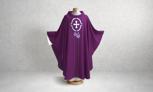 Candle and Cross Advent Chasuble