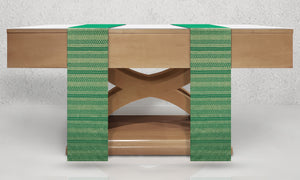 Diamante Woven Altar Scarves in Green