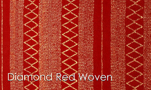 Diamante Red Woven Altar Scarves