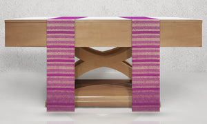 Diamante Woven Altar Scarves in Violet