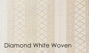 Diamante Woven Altar Scarves in White