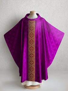 Classic Francis <br> Chasuble <br> in Lucia Purple