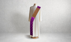 Classic Francis <br> Deacon Stole <br> in Lucia Purple