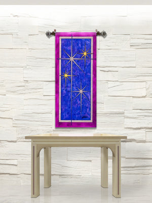 Printed Advent Star Banner