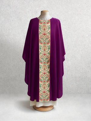 Irina Tapestry Chasuble <br> in Eggplant