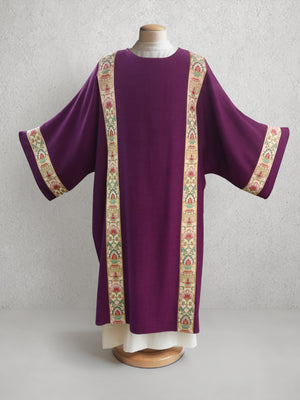 Irina Tapestry Dalmatic <br> in Eggplant