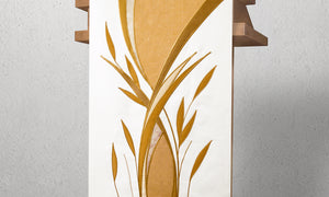 983 Foliage Lectern Hanging <br> in White & Gold