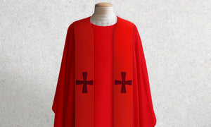 376 Crucifixion Stole <br> in Red