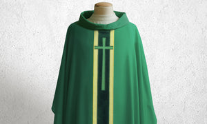 378 True Cross Chasuble in Green