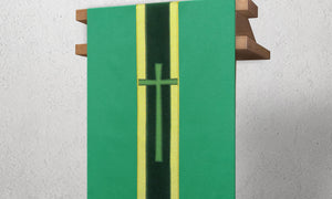 378 True Cross Lectern Hanging in Green