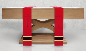 378 True Cross <br> Altar Scarves in Red