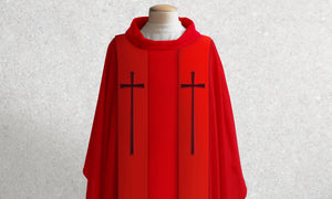 378 True Cross Stole <br> in Red