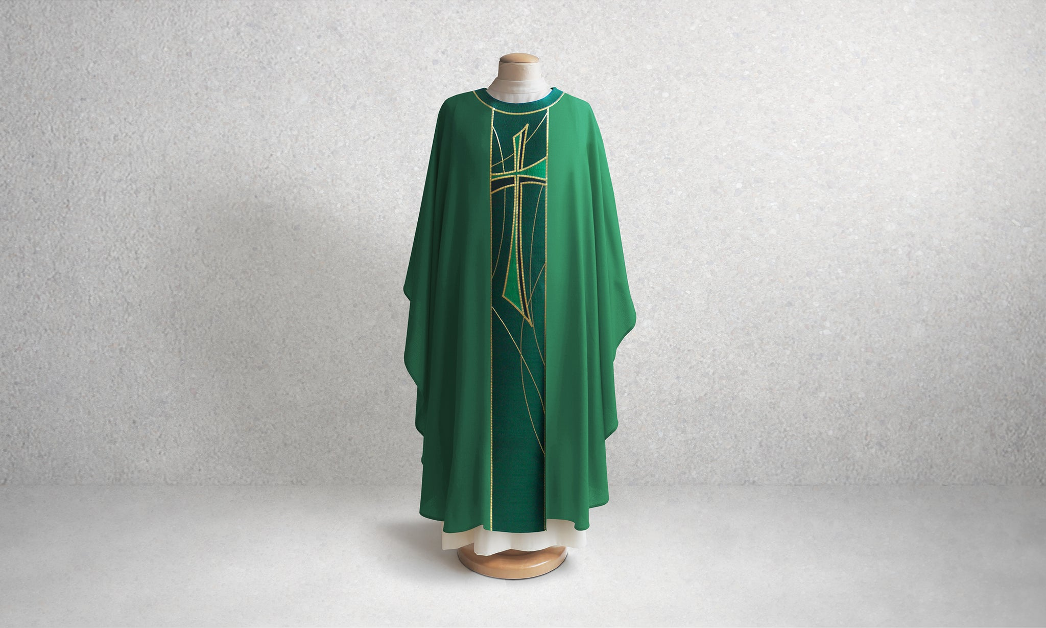 811 Cross Chasuble <br> in Green
