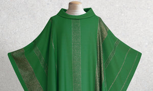 Beaulieux Woven Chasuble in Green