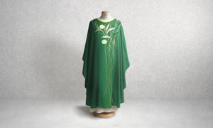 Cascading Foliage Green Chasuble