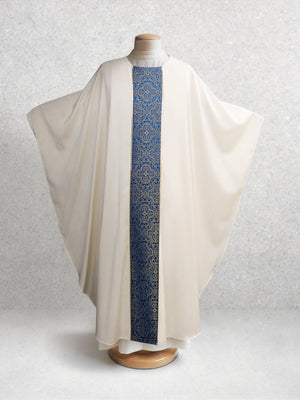 Classic Chasuble in Brocade Blue