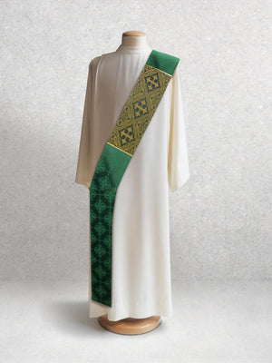 Classic Francis <br> Deacon Stole <br> in Lucia Green