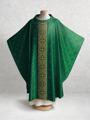 Classic Francis <br> Chasuble <br> in Lucia Green