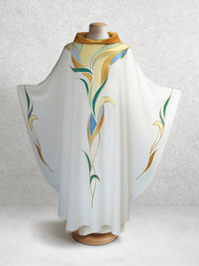 Water & Foliage Chasuble <br> in White