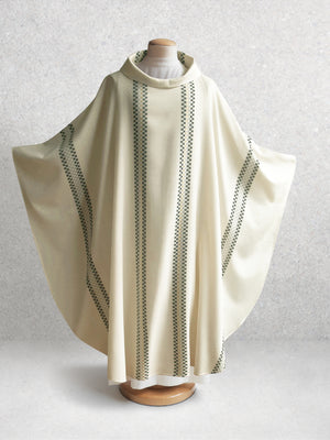 Salerno Woven Chasuble in White