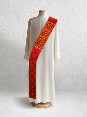 Classic Francis <br> Deacon Stole <br> in Lucia Red