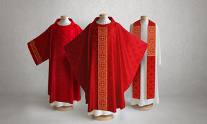 Classic Francis <br> Chasuble <br> in Lucia Red