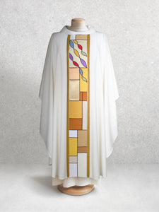 Square Stained Glass Chasuble