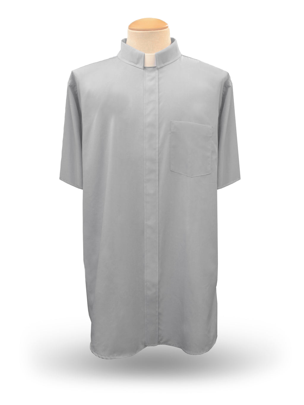 Men's Short Sleeve <br> Tab Collar Clergy Shirt <br> in Grey