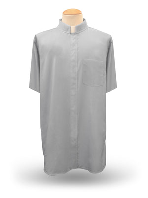 Men's Short Sleeve <br> Tab-Collar Clergy Shirt <br> in Grey