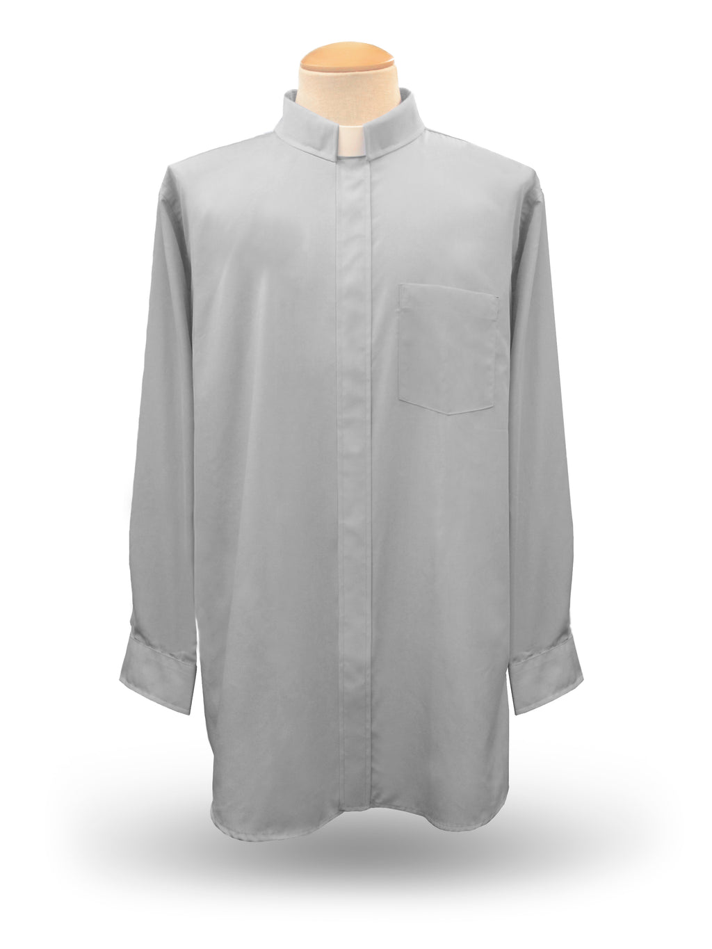 Men's Long Sleeve <br> Tab Collar Clergy Shirt <br> in Grey