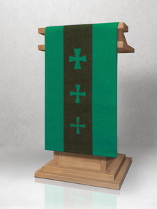 376 Crucifixion Lectern Hanging in Green