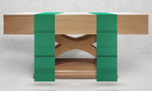 Traviata Woven Altar Scarves in Green