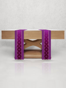 Classic Central Band Altar Scarves <br> in Purple