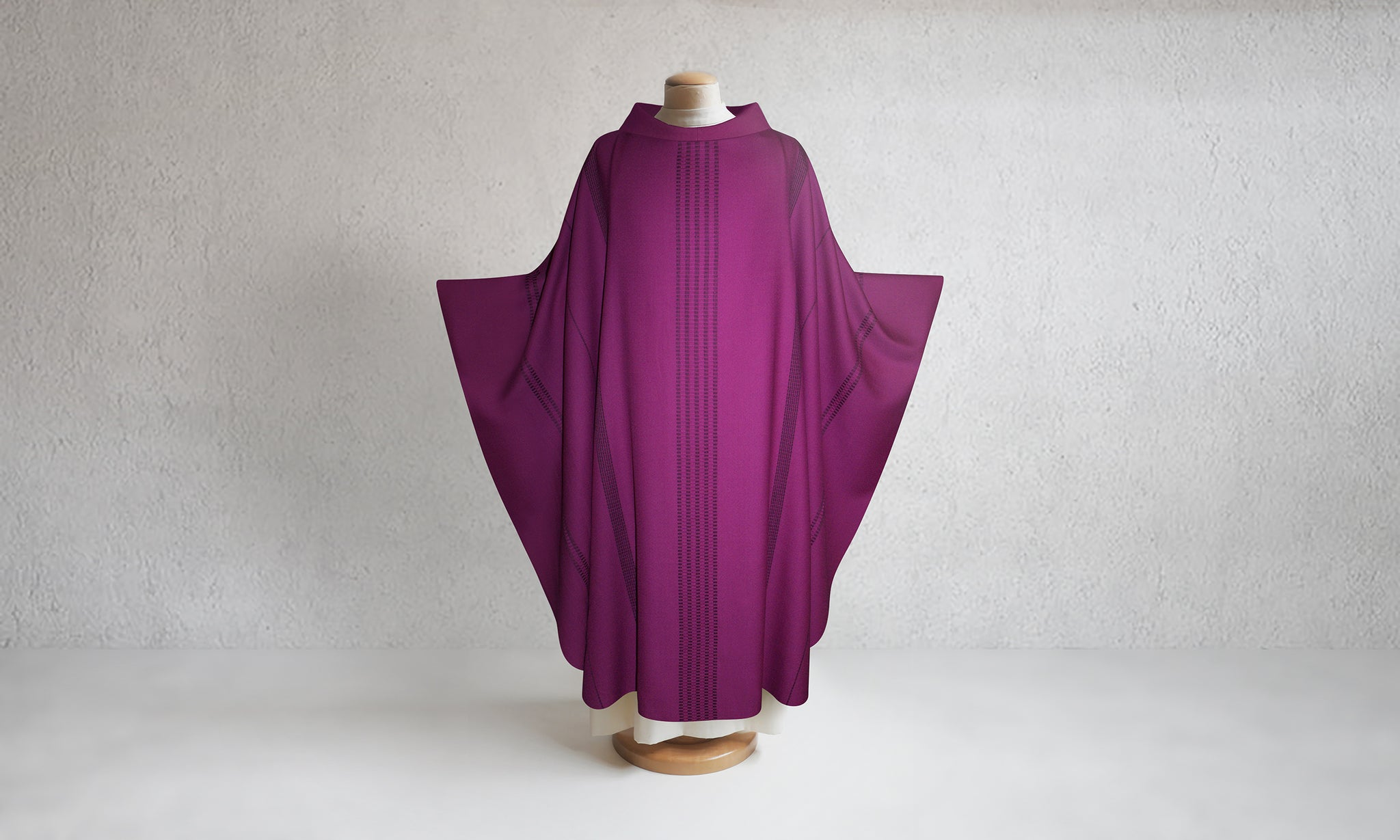 Traviata Woven Chasuble in Purple